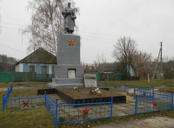 с. Кицевка Печенежского р-на. Памятник в центре села, установлен на братской могиле воинов, погибших при освобождении села