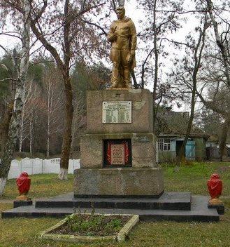 с. Федоровка Нововодолажского р-на. Памятник в центре села, установлен на братской могиле, в которой похоронено 57 воинов