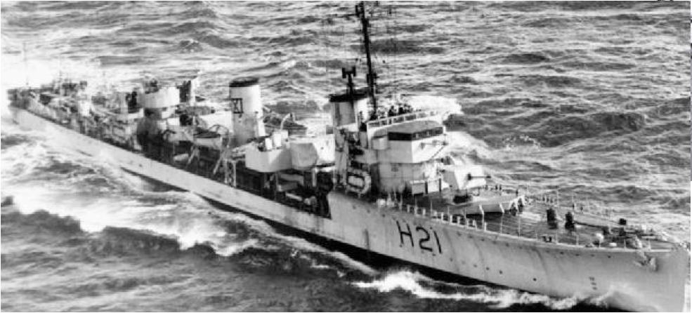 Эскадренный миноносец «Scimitar» (Н-21)