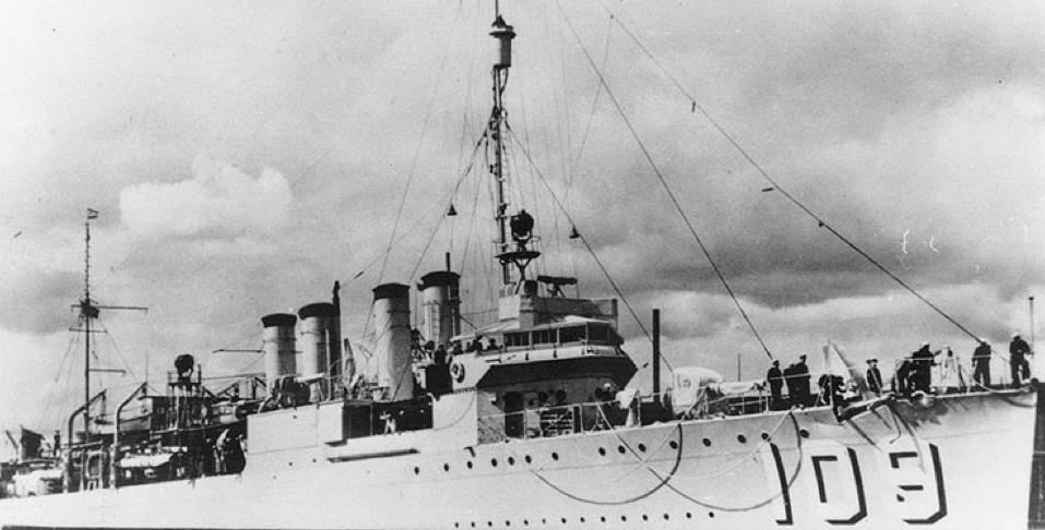 Эскадренный миноносец «Crane» (DD-109)