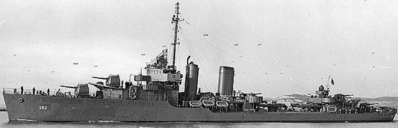 Эскадренный миноносец «Worden» (DD-352)