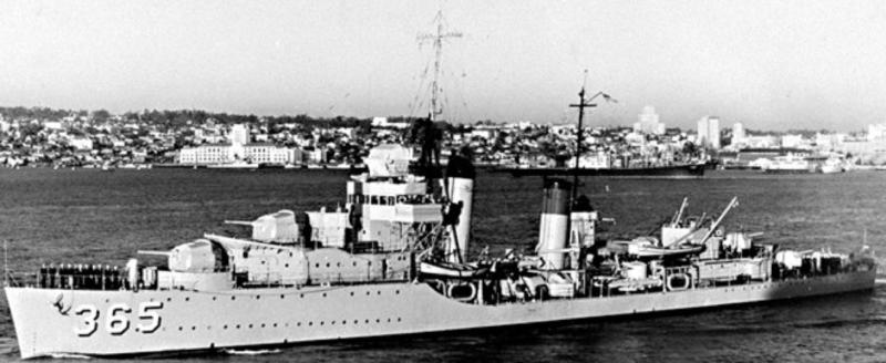 Эскадренный миноносец «Cummings» (DD-365)