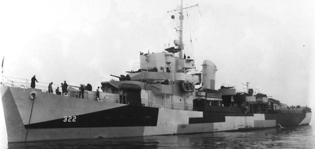 Эскортный миноносец DE-322 «Newell»