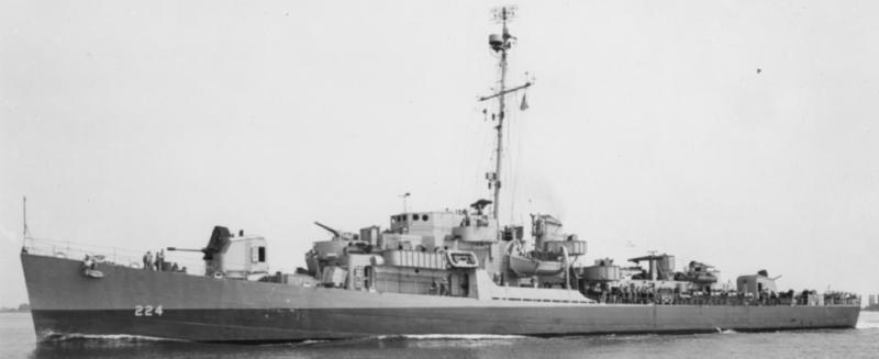 Эскортный миноносец DE-224 «Rudderow»