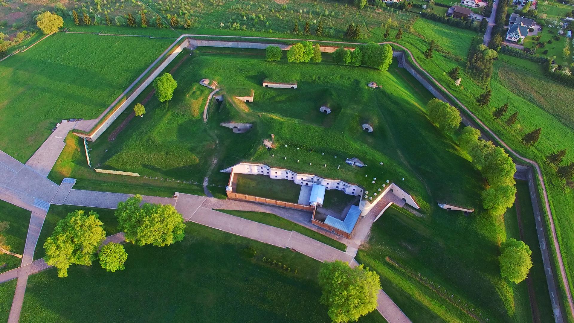 Вид форта с высоты.
