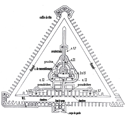 План-схема форта.