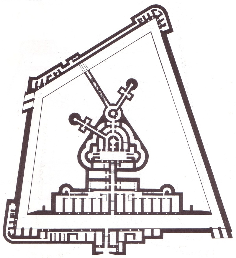 Карта-схема форта.