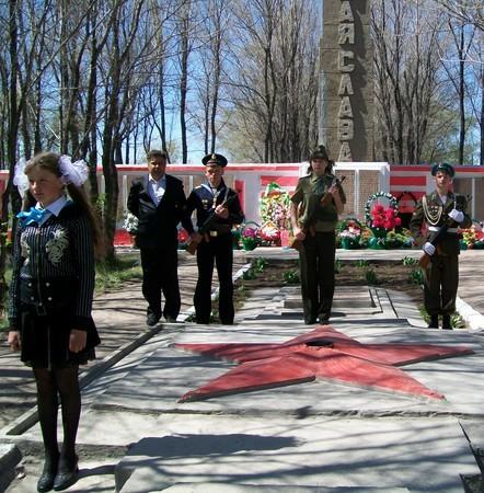 с. Урюпинка Аккольского р-на. Памятник воинам, погибшим в годы Великой Отечественной войны.