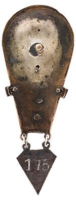 Аверс и реверс знака «Инструктор парашютного спорта» I категории образца 1933 года.