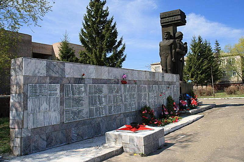 с. Катарколь Бурабайского р-на. Мемориал воинам, павшим в Великой Отечественной войне.