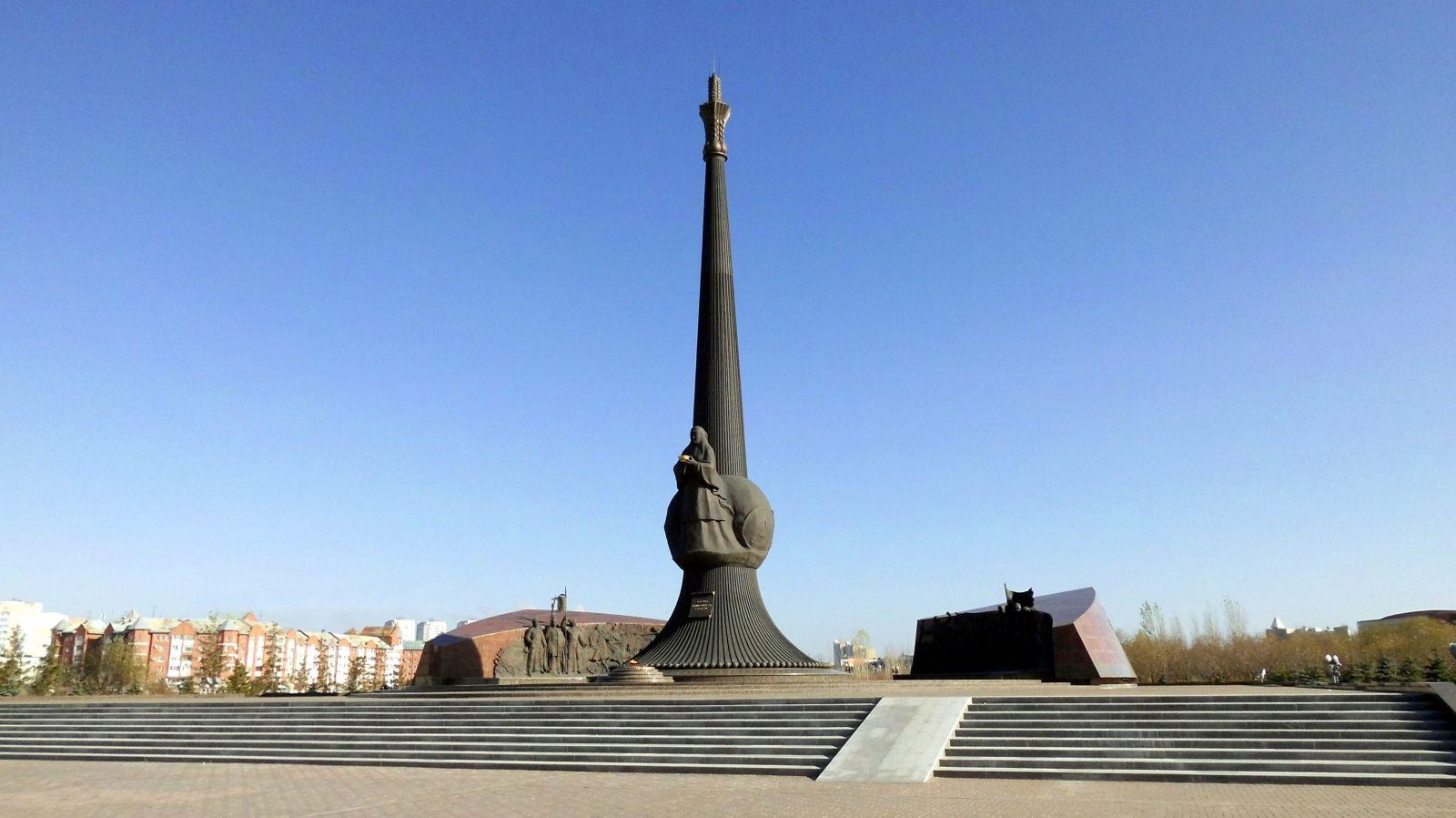 г. Астана. Общий вид памятника «Защитники отечества».