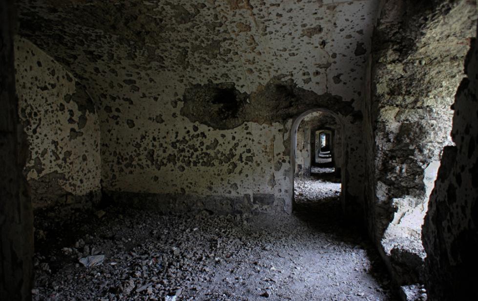 Руины каземата.