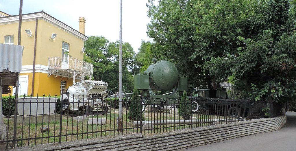 Вид на внешнюю площадку музея.