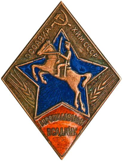 Знаки «Ворошиловский всадник» I и II ступени образца 1939 г.