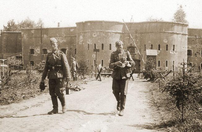 Редут во время немецкой оккупации.