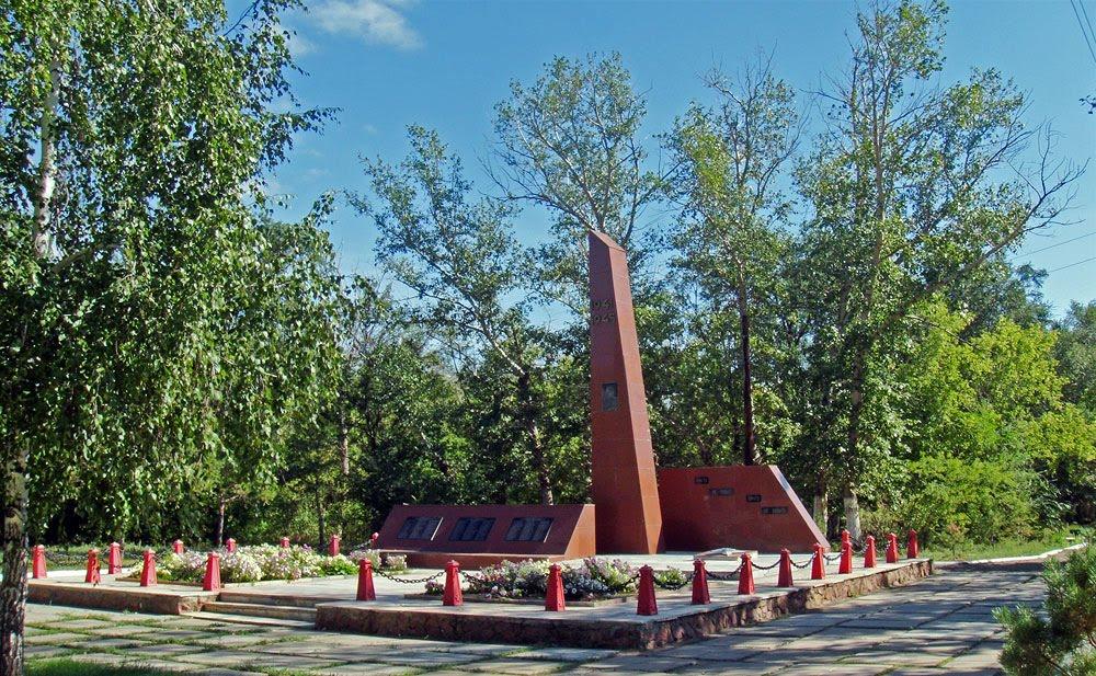 с. Астраханка Астраханского р-на. Памятник воинам, павшим в Великой Отечественной войне.
