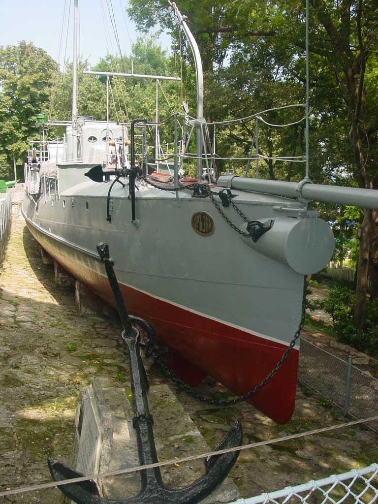 Нос торпедного катера-музея «Дръзки».