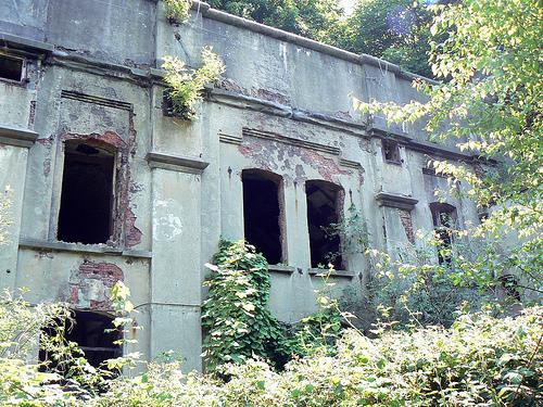 Развалины форта.