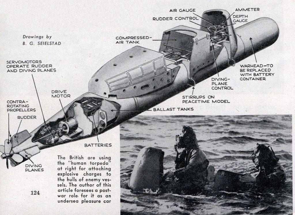 Схема устройства управляемой торпеды