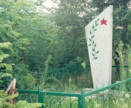 с. Мирное Новоаненского р-на. Памятный знак на месте гибели партизана Николая Коледы