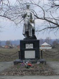 с. Борщевая Харьковского р-на. Памятник на околице села установлен на братской могиле, в которой похоронено 29 воинов