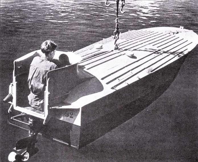 Спуск катера МТМ на воду