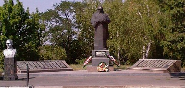 с. Васищево Харьковского р-на. Общий вид братской могилы