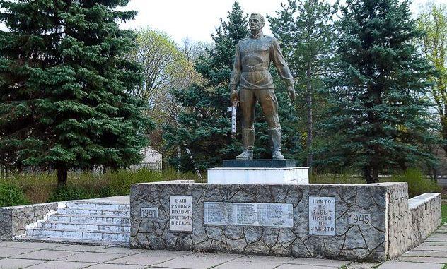 с. Иванча. Оргеевского р-на. Памятник воинам, погибшим в годы Великой Отечественной войны
