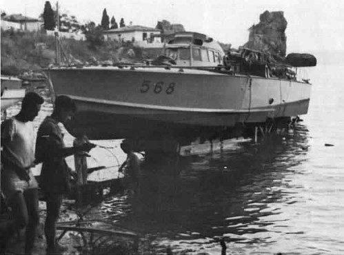 Торпедный катер МАS-568 Х-й флотилии в Феодосии