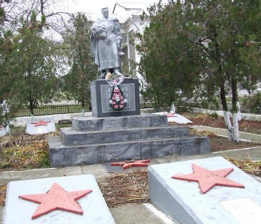 с. Глиное Григориопольского р-на, Мемориал на братской могиле павших бойцов
