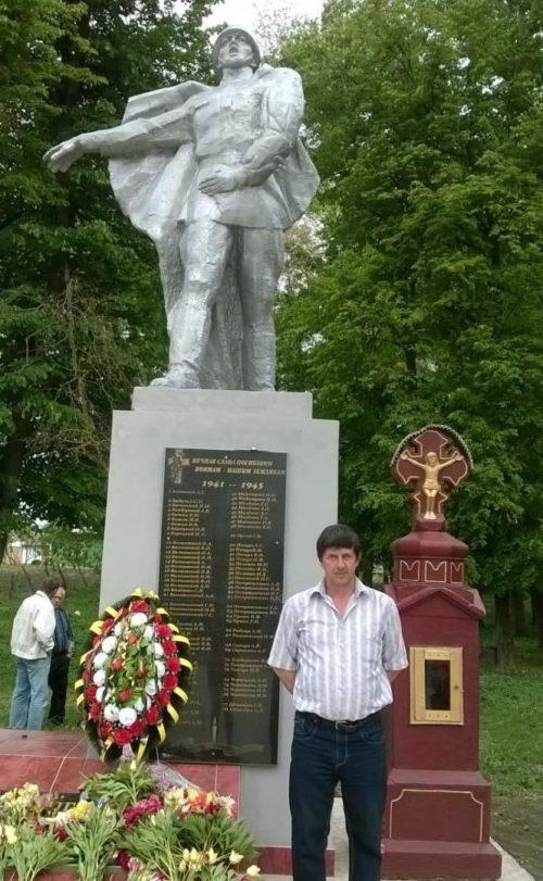 с. Балкауцы, Бричанского р-на. Памятник воинам, погибшим в годы Великой Отечественной войны