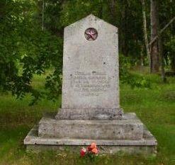 п. Варбла, Варблаская волость. Братская могила советских воинов