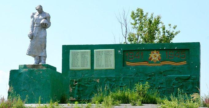 с. Кобань Глодянского р-на. Памятник воинам, погибшим в годы Великой Отечественной войны