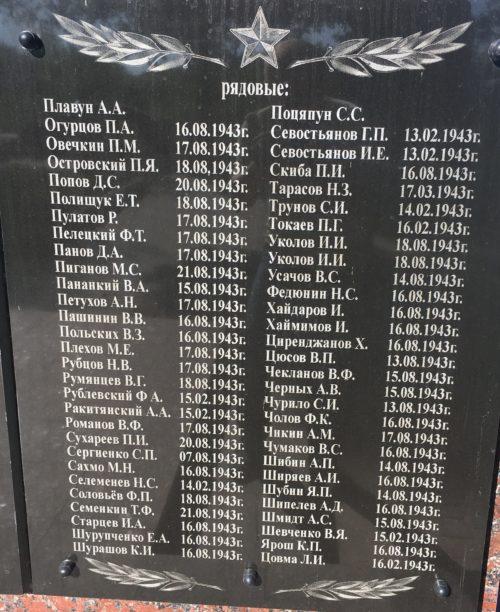 Одна из мемориальных плит