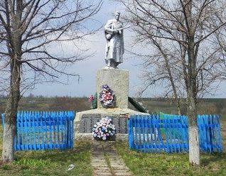 с. Богодаровка Шевченковского р-на. Памятник на окраине села, установлен на братской могиле, в которой похоронено 203 советских воина, погибших в годы войны
