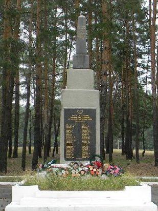 г. Мерефа Харьковского р-на. Обелиск установлен на братской могиле, в которой похоронено 47 воинов, погибших при освобождении города в сентябре 1943 года