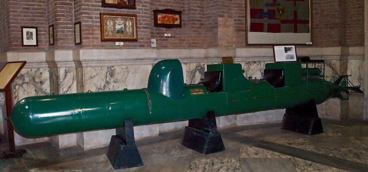 Человеко-торпеда «Майяле» в музее Рима