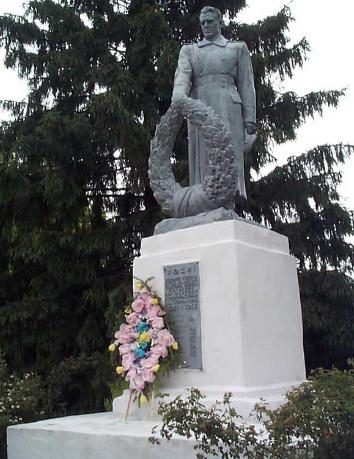 с. Боровское Шевченковского р-на. Памятник установлен на братской могиле, в которой похоронено 14 воинов, погибших в годы войны
