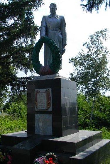 с. Ржавец Харьковского р-на. Памятник установлен на братской могиле, в которой похоронено 253 воина, погибших в боях за село