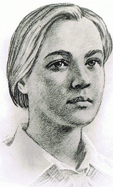 Лида Матвеева. Художник И. Сущенко