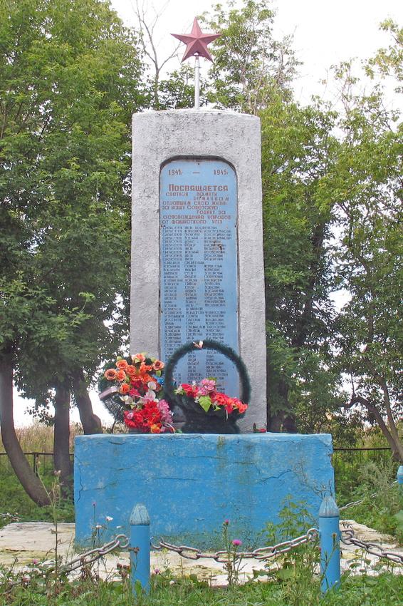 с. Верхний Бурлук Айыртауского р-на. Памятник воинам, погибшим в годы Великой Отечественной войны.