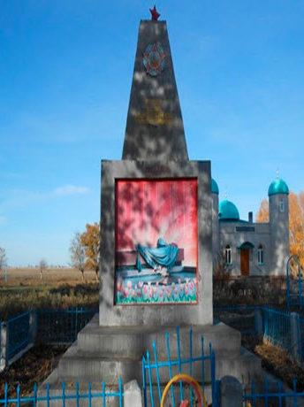 с. Коктерек Урджарского р-на. Памятник воинам, погибшим в Великой Отечественной войне.