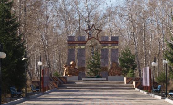 с. Бишкуль Кызылжарского р-на. Мемориал воинам, павшим в годы Великой Отечественной войны.