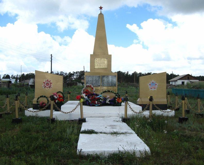 с. Имантау Айыртауского р-на. Памятник воинам, павшим в годы Великой Отечественной войны.