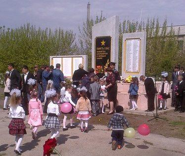 с. Константиновка Айыртауского р-на. Памятник воинам, погибшим в годы Великой Отечественной войны.