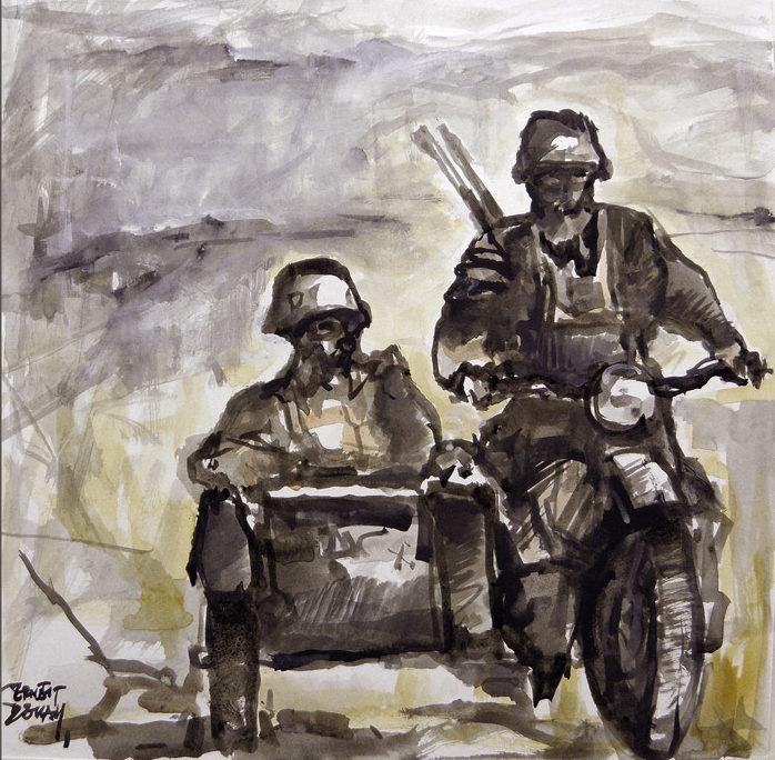 Descals Ernest. Мотоциклисты.
