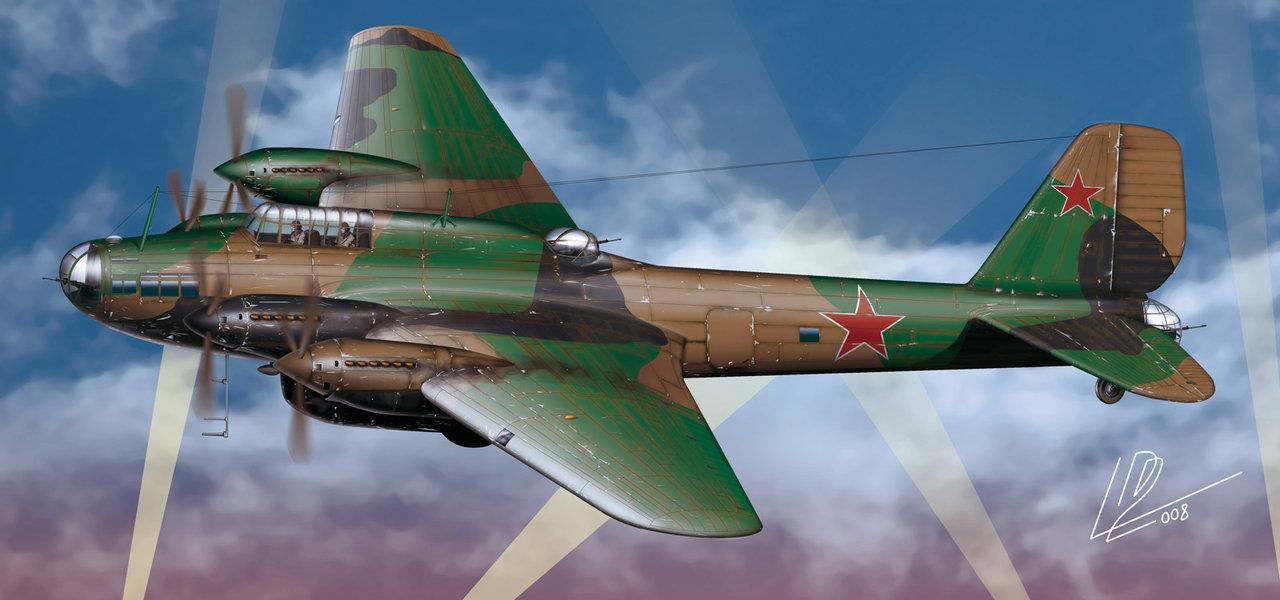 Gomez Luis David. Бомбардировщик Пе-8.