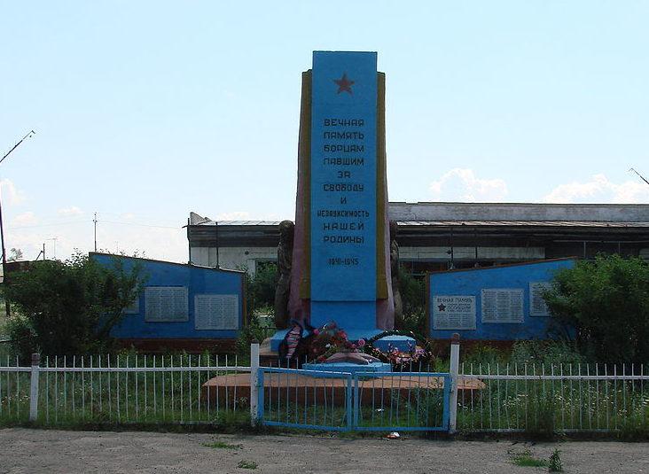 с. Лобаново Айыртауского р-на. Памятник воинам, погибшим в годы Великой Отечественной войны.