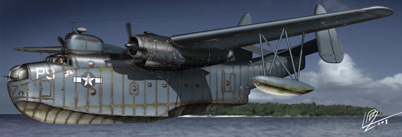 Gomez Luis David. Летающая лодка Martin PBM aircraft.