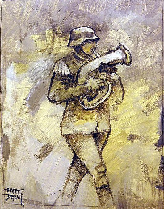 Descals Ernest. Солдат-музыкант.
